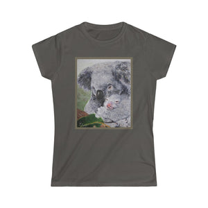 Koala Fine Art Shorter Sleeve Tee (Color design)- Australian Disaster Relief MD2-5 - ARTSY STYLE