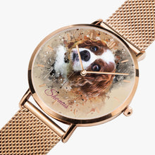 Load image into Gallery viewer, Custom Design  Ultra-thin Stainless Steel Quartz Watch (With Indicators) - ARTSY STYLE