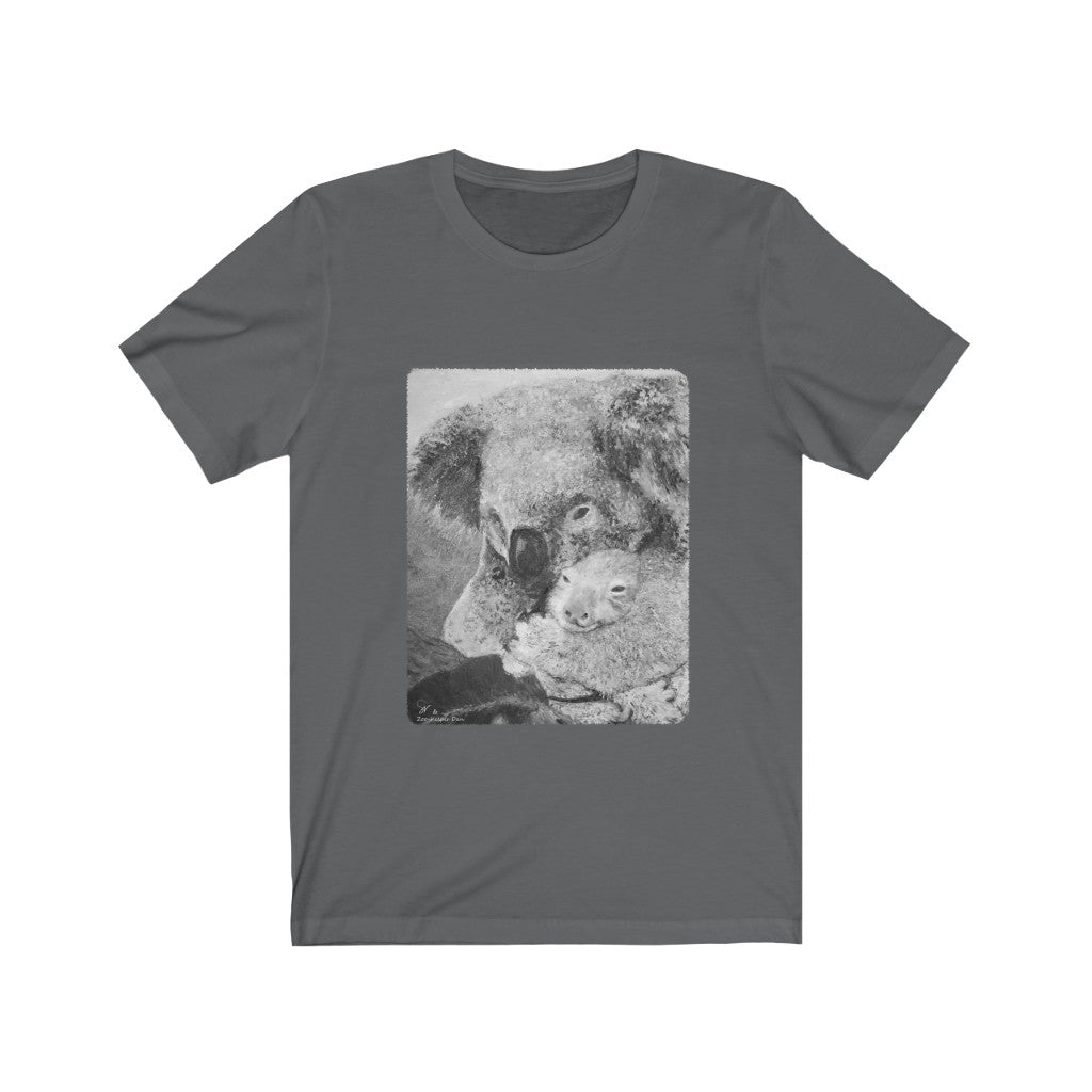 Koala Fine Art Unisex Tee, for any age... wonderful gift item! (b&w version) - ARTSY STYLE