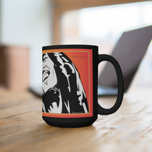 Load image into Gallery viewer, Bob M. One Love w/ Flag Hearts - Black Mug 15oz (Lg) - ARTSY STYLE
