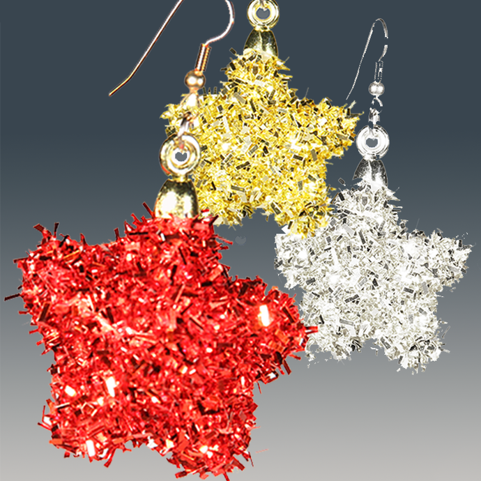 Sparkly Glam Earrings! For All Celebrations  (in red, silver & gold)   **(free shipping on orders over $25!) - ARTSY STYLE