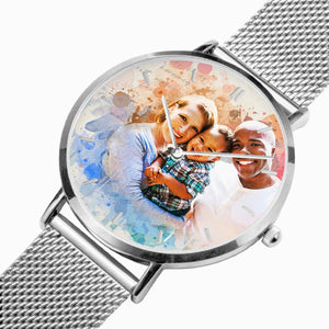 Bigger biracial fam 170. Fashion Ultra-thin Stainless Steel Quartz Watch (With Indicators) - ARTSY STYLE