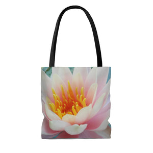 Beautiful Water Lily AOP Tote Bag - Image from Brooklyn Botanic Garden, NYC - ARTSY STYLE