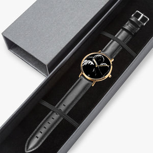 Lady G & Brad 1-27 Hot Selling Ultra-Thin Leather Strap Quartz Watch (Rose Gold) - ARTSY STYLE