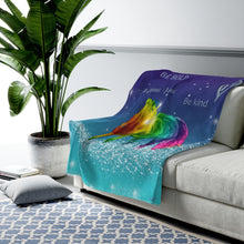 Load image into Gallery viewer, Magical Rainbow Unicorn Velveteen Plush Blanket - ARTSY STYLE