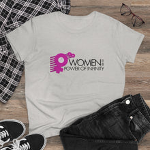"Load image into Gallery viewer, ""Women to the Power of Infinity"" Symbols design. Cotton tee - ARTSY STYLE"