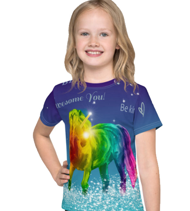 Rainbow Unicorn Girls T-Shirt All Over Print ver1 - ARTSY STYLE