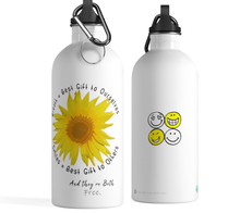 Load image into Gallery viewer, Uplifting Sunflower & Smiles Stainless Steel Water Bottle - ARTSY STYLE