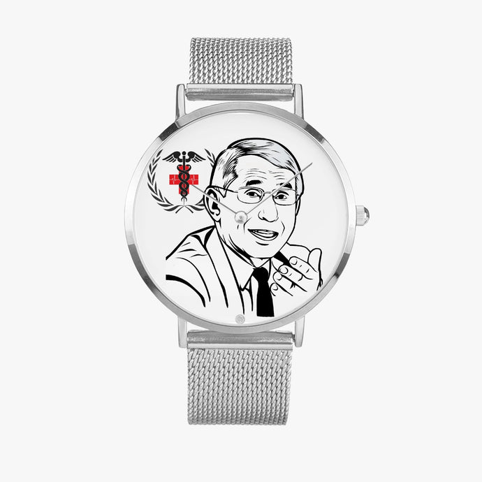 Honoring Dr. F ~ Ultra-thin Stainless Steel Quartz Watch - ARTSY STYLE