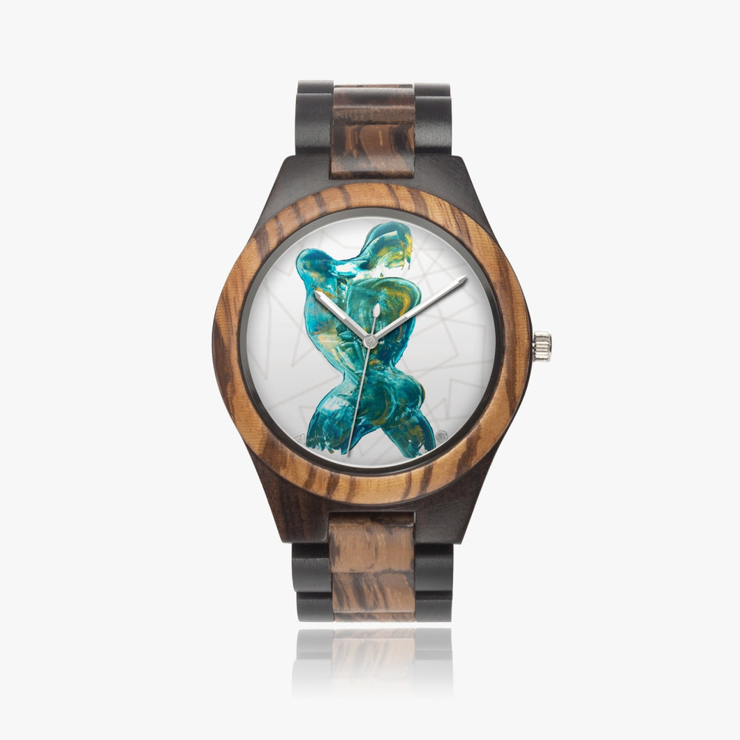 207. Indian Ebony Wooden Watch - ARTSY STYLE