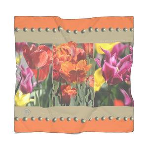 """Brooklyn"" Voile Chiffon Scarf with Signature Art Deco - ARTSY STYLE"