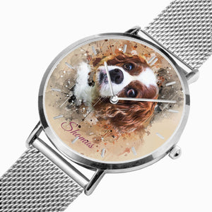 Custom Design  Ultra-thin Stainless Steel Quartz Watch (With Indicators) - ARTSY STYLE