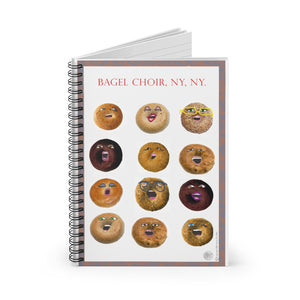 Spiral Notebook - NYC Bagel Choir - ARTSY STYLE