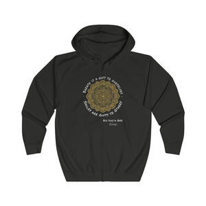 Stress Reducer & Cool Design Full Zip Hoodie - ARTSY STYLE