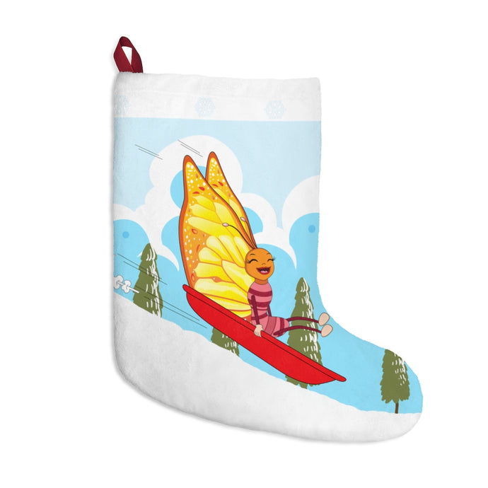 Holiday Stocking for Everyone - Super B! The Try, Try Butterfly Sledding! - ARTSY STYLE