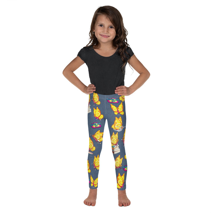 Super Kid Club Leggings! Featuring Super B! The Try, Try Butterfly multi character! - ARTSY STYLE