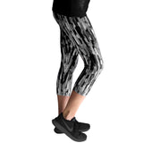 Black Brushstroke Yoga Leggings - Devon Maryn