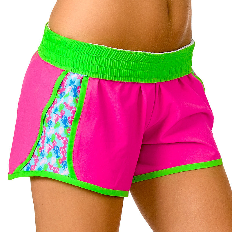 """Butter Me Up"" Lobster Shorts (Pink) - Devon Maryn"