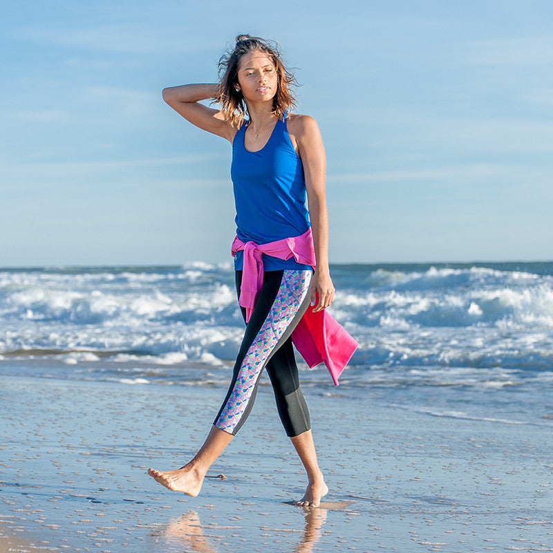 """Butter Me Up"" Lobster Pocket Yoga Capris - Devon Maryn"