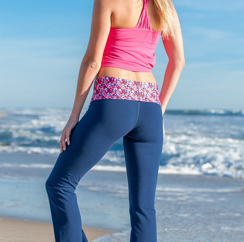 """Butter Me Up"" Lobster Roll Waist Yoga Pants - Devon Maryn"