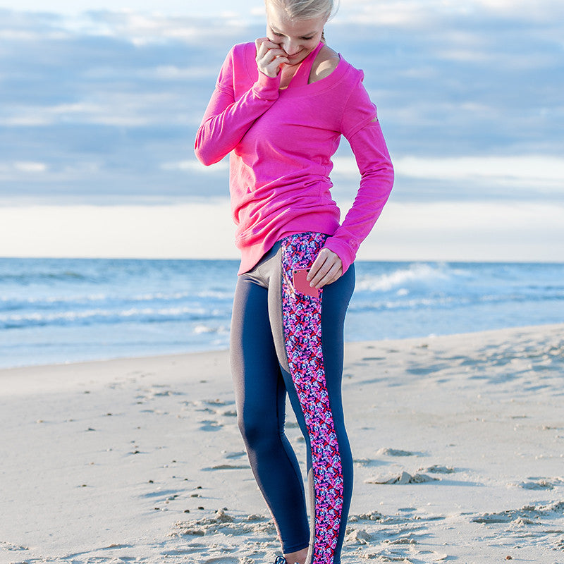 """Butter Me Up"" Lobster Pocket Yoga Leggings - Devon Maryn"