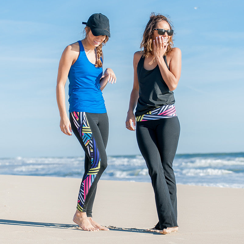 """Cross the Line"" Pocket Yoga Leggings - Devon Maryn"