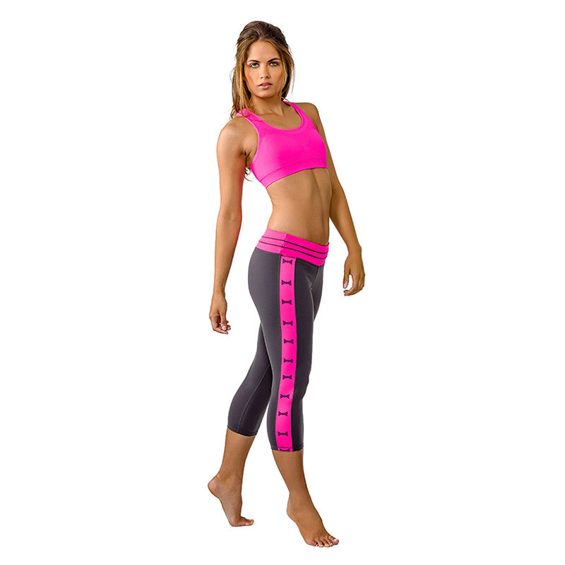 """Bows to Toes"" Yoga Capris - Devon Maryn"