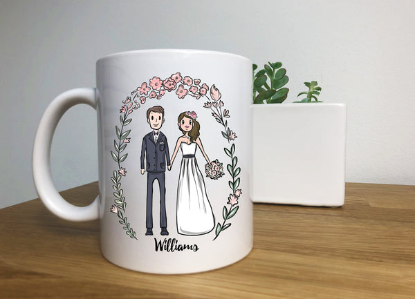 Personalized Mr Mrs Bride Groom Wedding Gift, Custom bridal gift, His Hers Newlywed