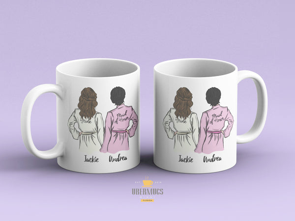 Personalized Maid of Honor gift Mug, Custom Bridesmaid favors, Bride Wedding Party, Will you be my