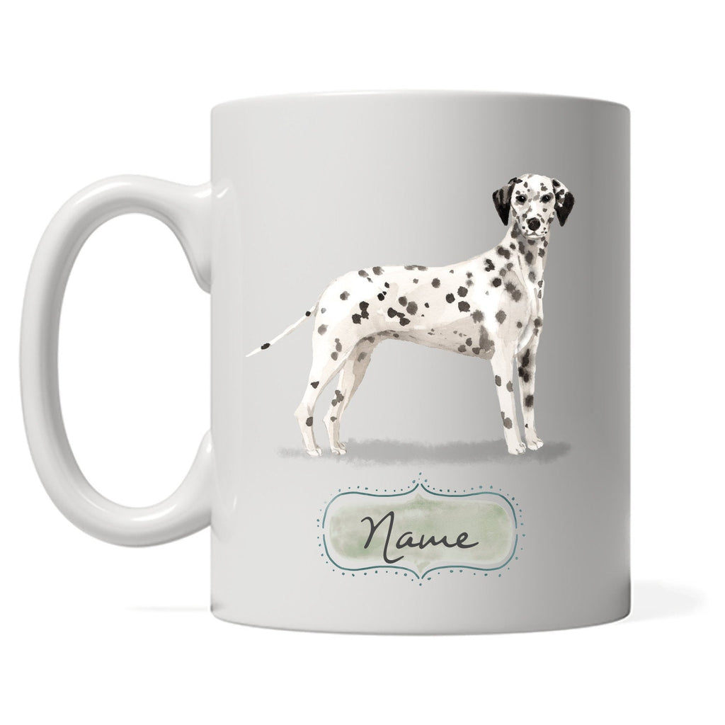 Dalmatian Design Mug with DOGS Name, Perfect for Dalmatian Owners