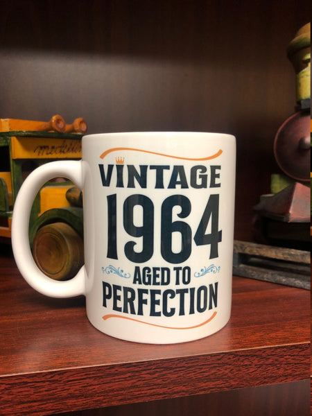 Vintage Aged to Perfection Coffee Mug, Birthday Present, Over 50 Present, 40th , 50th, 60th, 70th