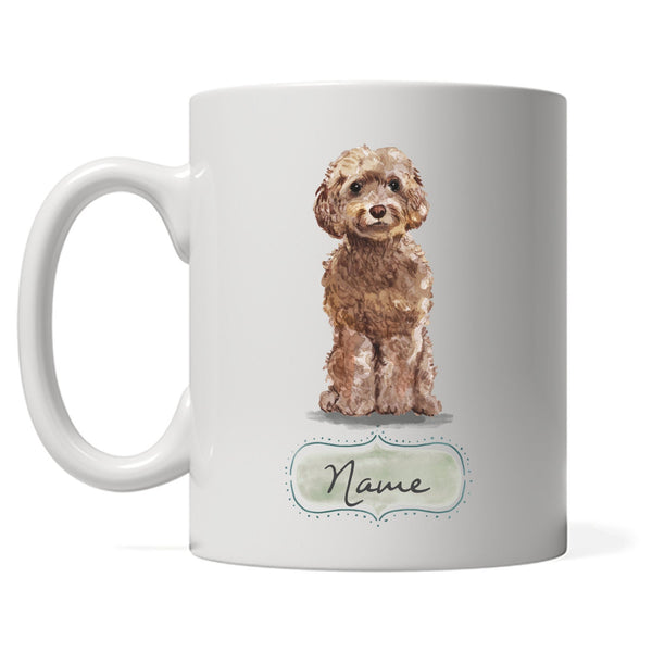 Cockapoo Design with DOGS Name, Personalized Gift for Cockapoo Owner