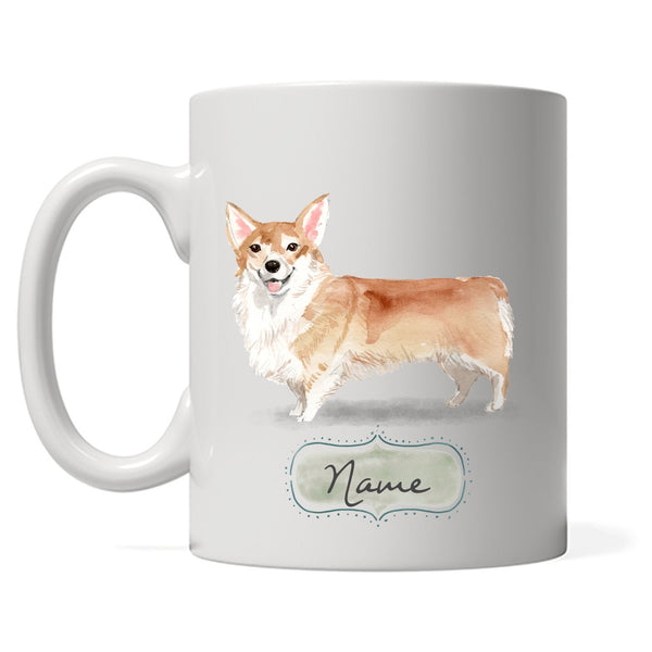 Corgi Design with DOGS name, Personalized Corgi Mom Coffee Mug, Custom Corgi Dad Tea, Gift for Dog Owner