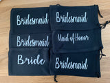 Personalized Wedding Sun Glass Drawstring Pouch, Custom Sunglass Soft case, Bride, Maid of Honor, Groom, Groomsmen