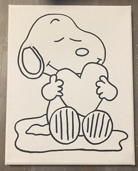 Snoopy Valentine Canvas