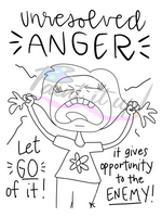 Unresolved Anger Coloring Page