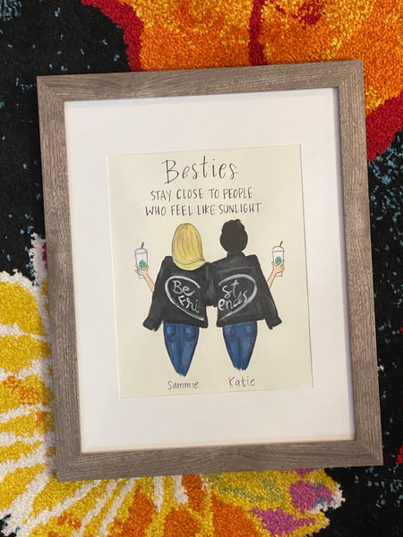Best Friends Painting w/ Personalization