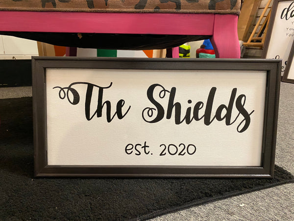Personalized Name Reverse Canvas