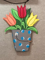 Tulips Door Hanger