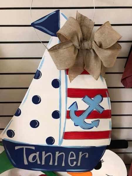 Sailboat Door Hanger