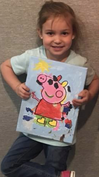 Peppa Pig Inspired Canvas