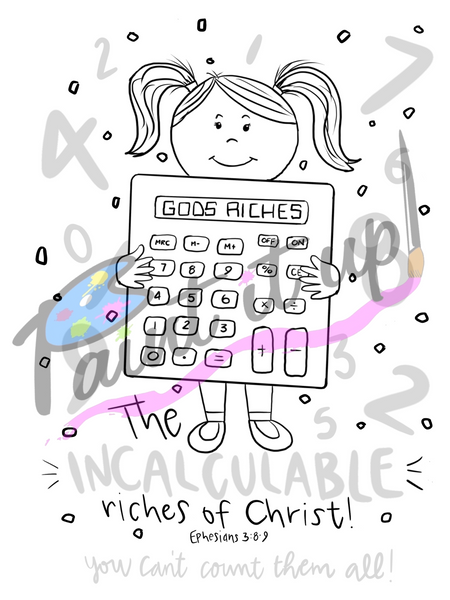 God's Riches Coloring Page