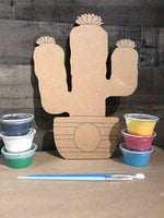 Wood Cactus Plaque Kit