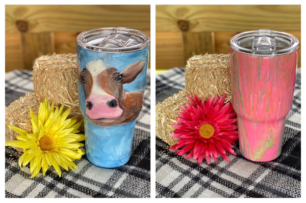 10/10/2020 (3pm) Paint Your Own Tumbler-$45