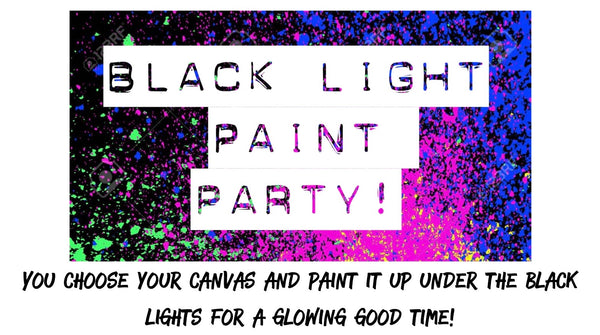 10/30/2020 (6-8pm) Kid's Glow Paint Party!