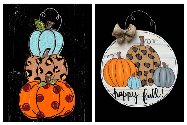 9/15/2020 (6pm) Pumpkins Door Hanger-$30