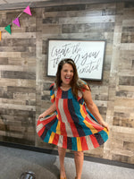 Color Block Patchwork Dress