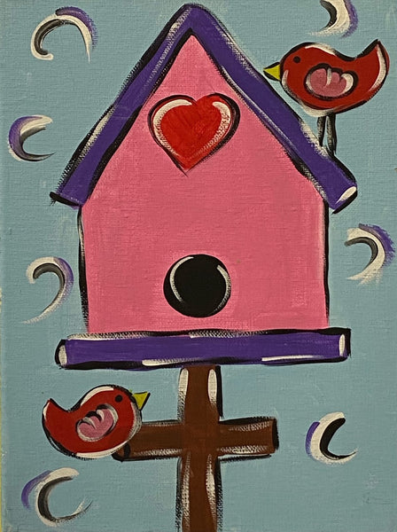 Birdhouse Canvas
