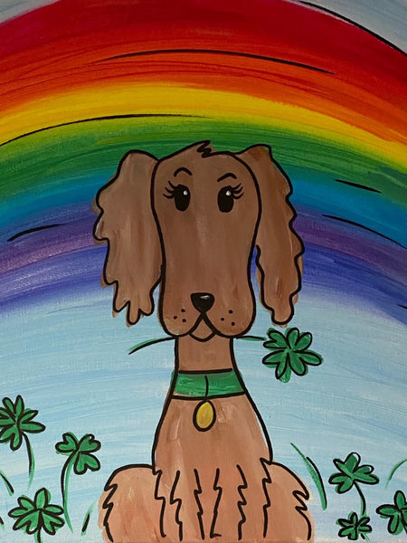 St. Patty's Day Dog Canvas