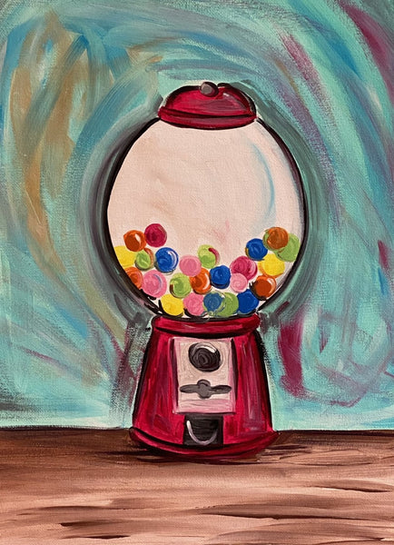 Bubble Gum Machine Canvas